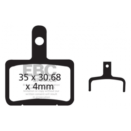 Klocki rowerowe EBC (organiczne) Shimano Deore BR-M515 & BR-M525 Meca 01 And Hydro 03-04 / Tektro Au