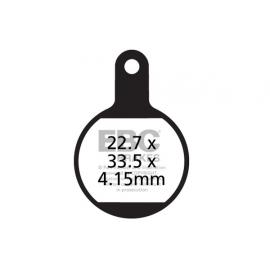 Klocki rowerowe EBC (organiczne wyczynowe) Tektro Novela Mechanical (MD-D 311) CFA615R