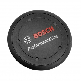 Logo cover Performance Line, black incl. spacer ring, if design cover is not fitted