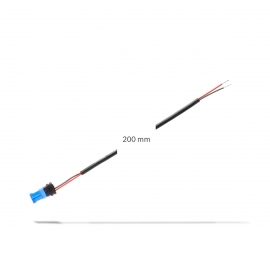 Cable power supply 3rd party component, 2 pol. cable 200 mm, for plug-in in free powerport with 4 pol. Nano MQS-connector