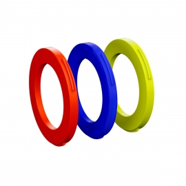 Ring kit for caliper, 4 pistons, from MY2015 (blue, neon red, neon yellow) (PU 12 pieces)