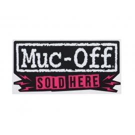 "Muc-Off ""Sold Here"" Window Sticker"